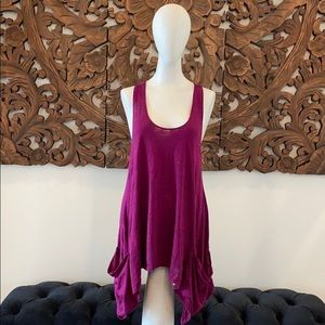 Alternative purple tank top with pockets